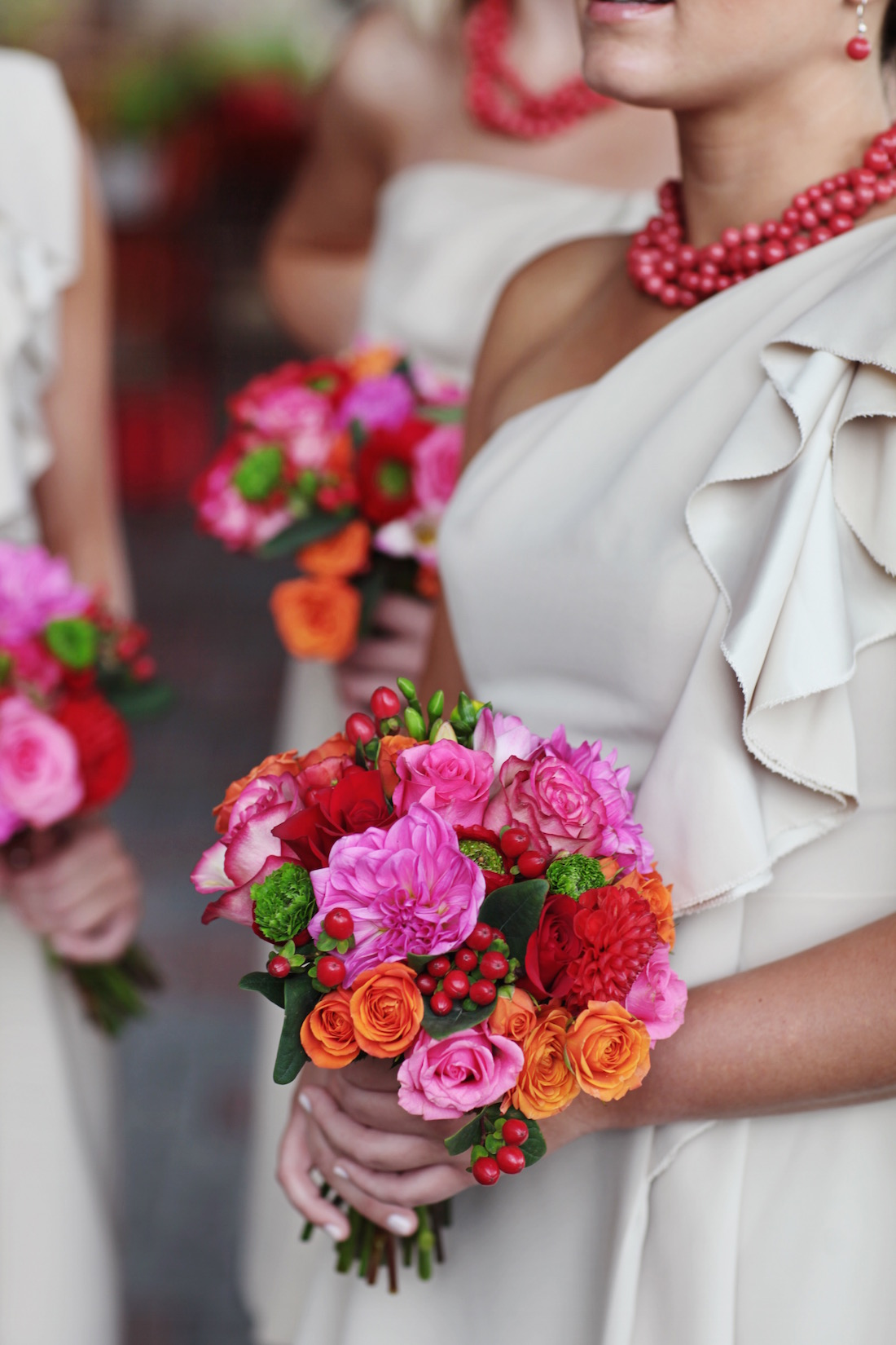 bright flowers for a summer wedding
