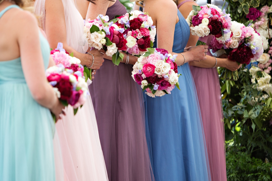 Summertime Wedding with Bridesmaids